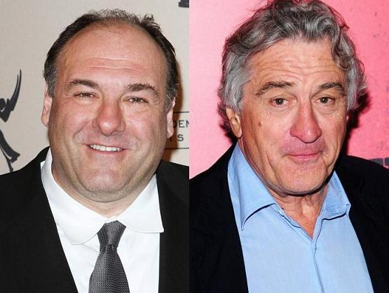 Robert Deniro y James Gandolfini - Actoresonline.com